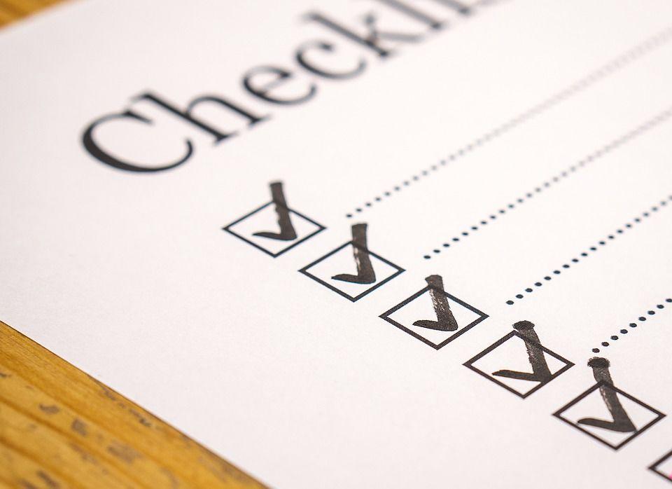 1. Bikin checklist