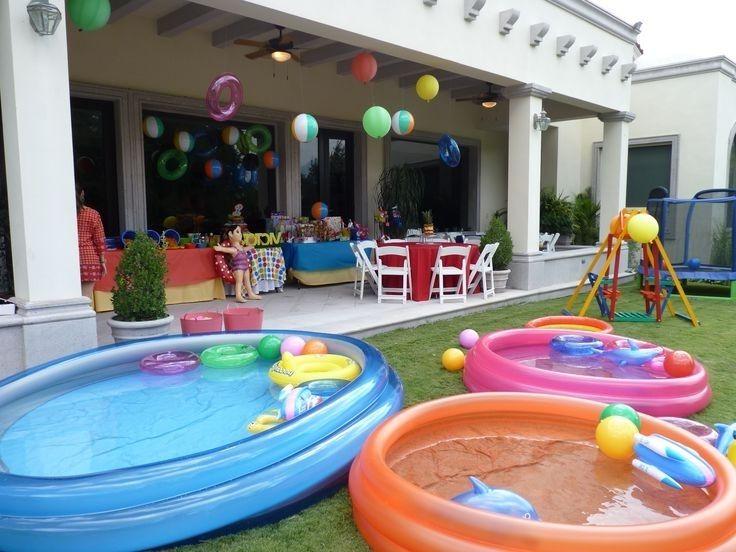 3. Bikin wahana air rumah kolam tiup ban renang