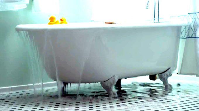 3. Mampet bak mandi