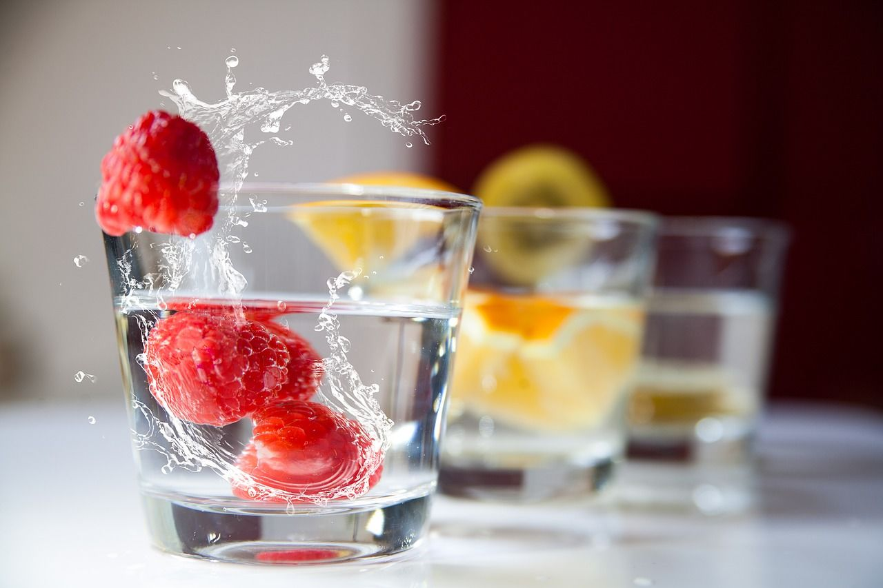 4. Sparkling water with fruit