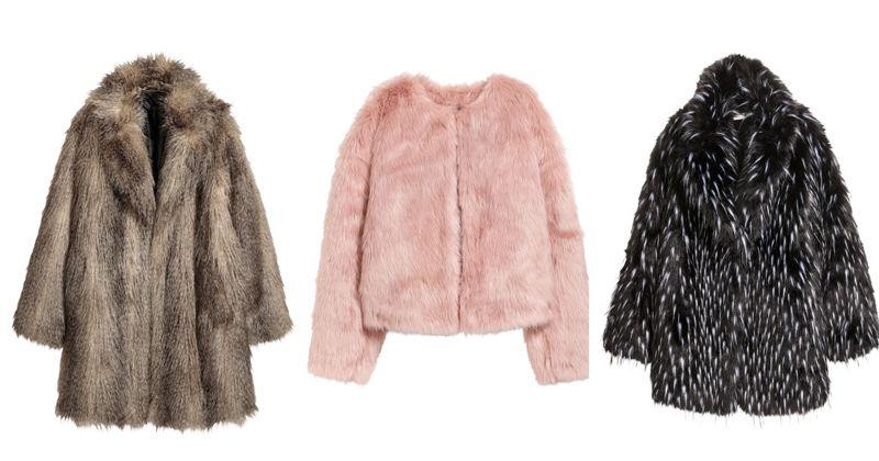 1. Faux fur jacket