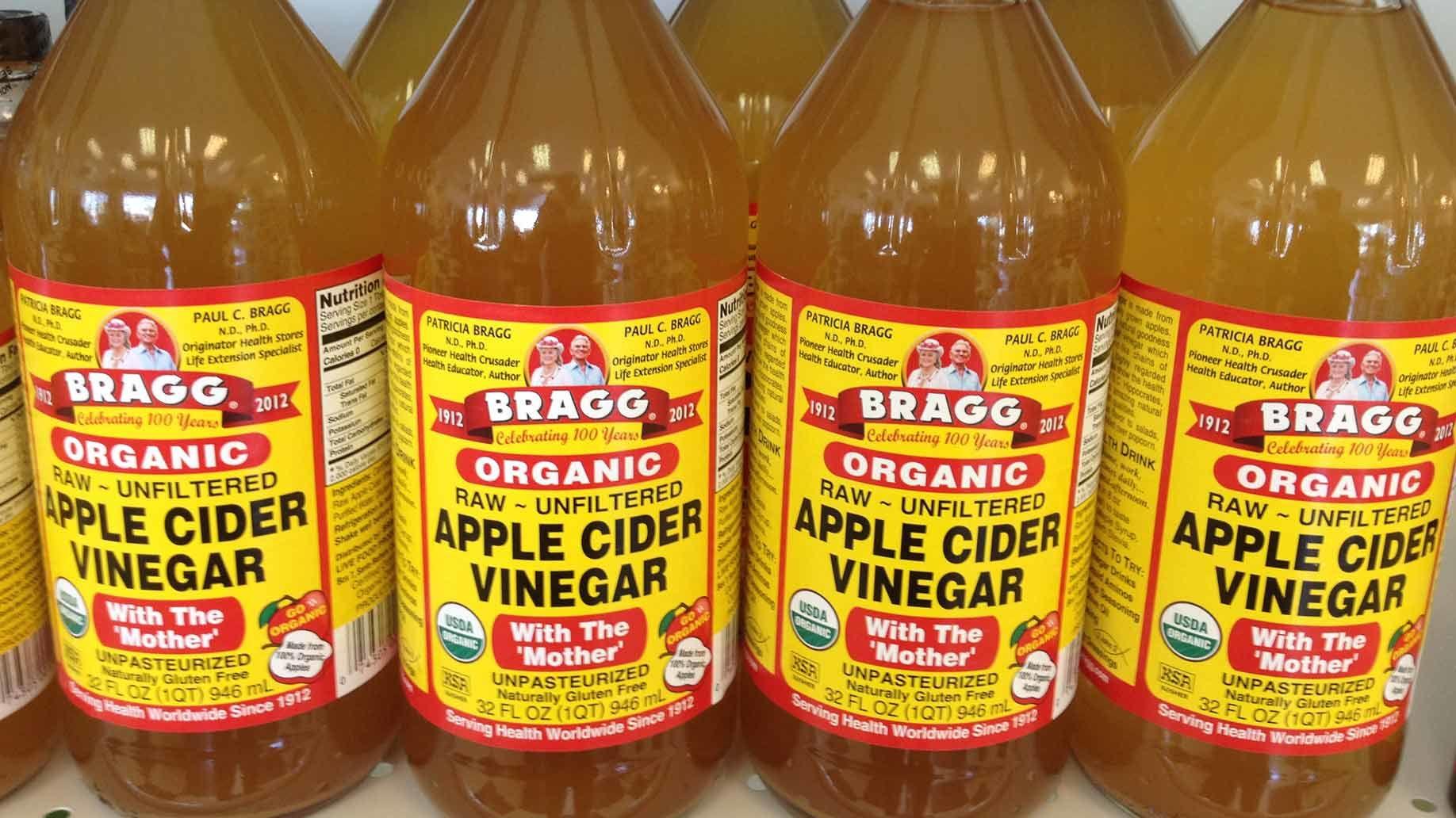 7. Cuka sari apel organik