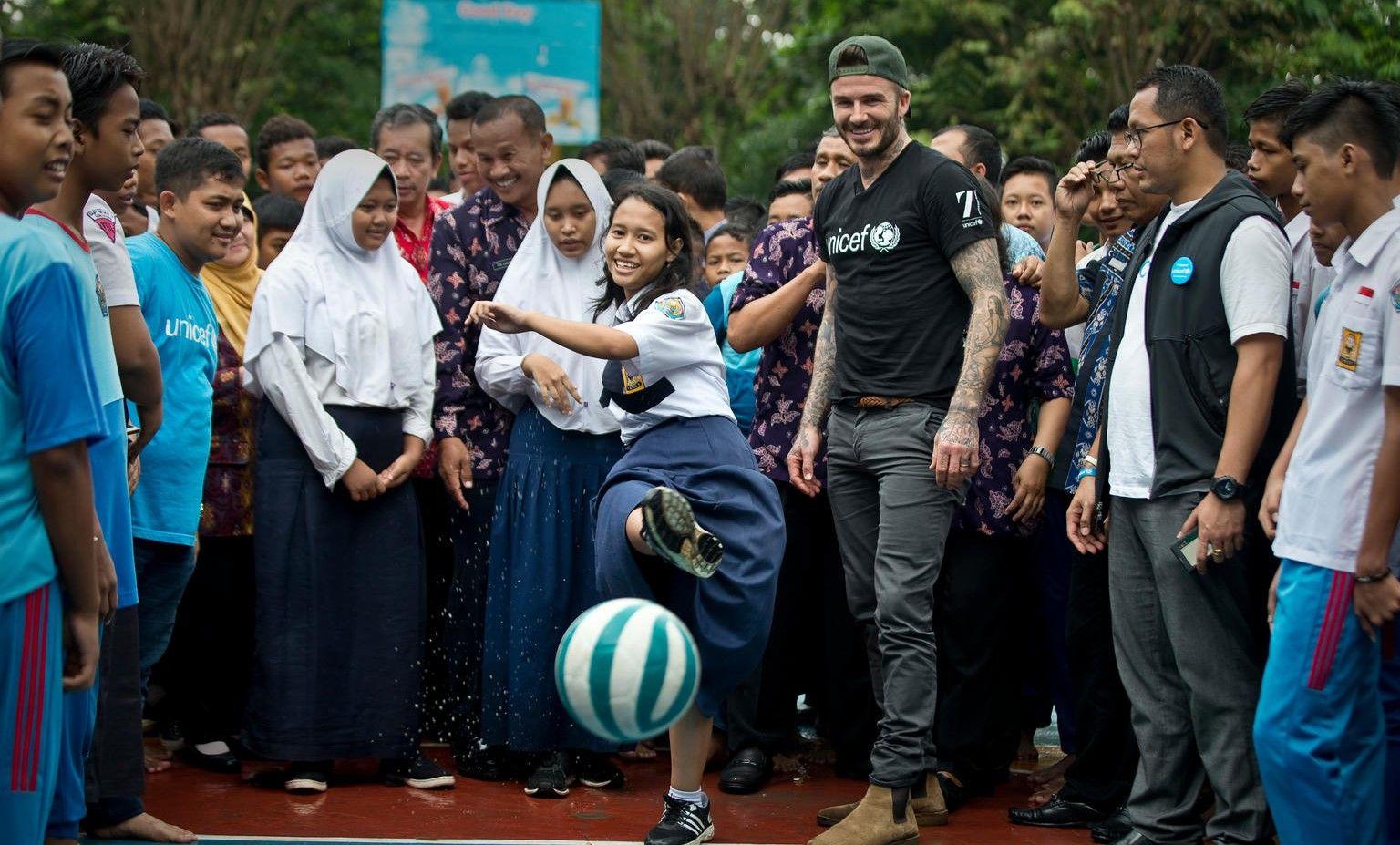 David Beckham Mengunjungi Indonesia Kampanye UNICEF ENDViolence