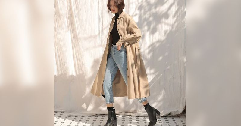 4. Trench coat jadi steatment baju model apapun