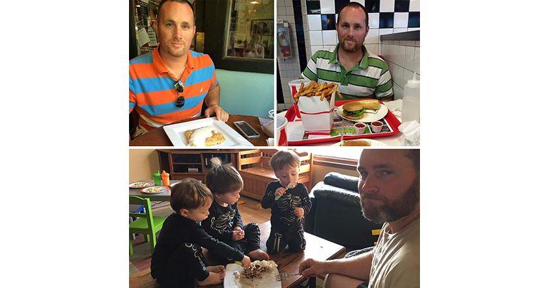 5. Foto sebelum makan