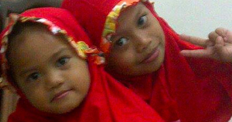 2.Bom dililit pinggang anak-anak perempuan