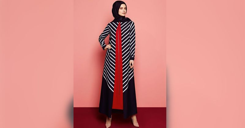 3. Vertical pattern with the touch of red