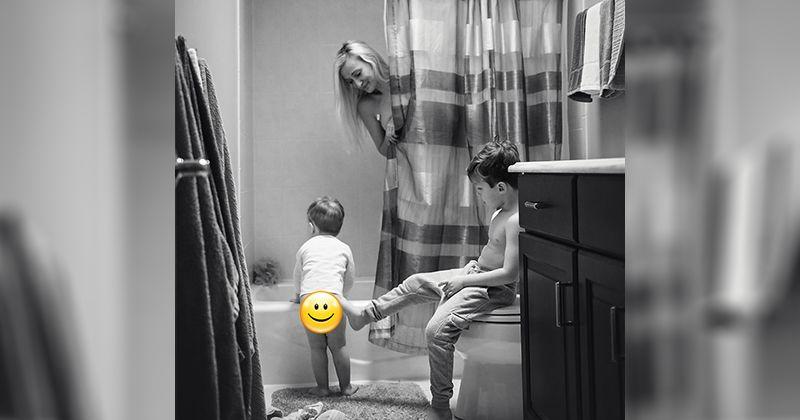 """1. """"Mama, Mandi cepat ya, aku tunggu"""""""