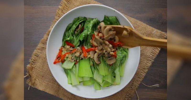 1. Resep Pokcoy Cah Jamur