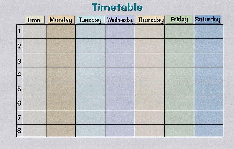 1. Membuat jadwal secara teratur