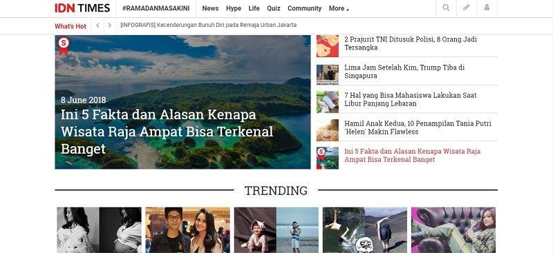Makin Update, Idntimes.com Luncurkan Situs Versi Terbaru