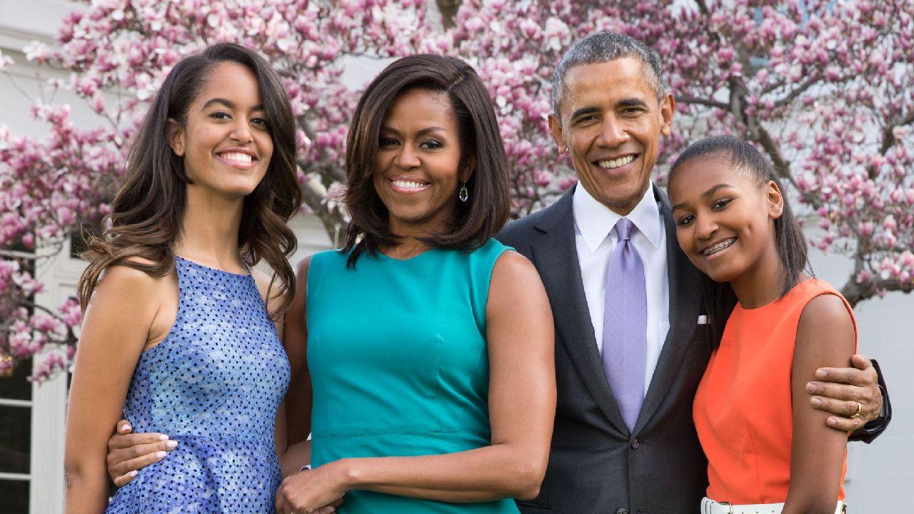 6. Michelle Obama Sasha Malia Obama