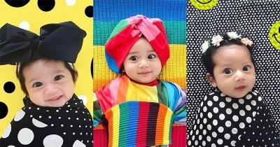 Too cute! Style Warna-Warni Putri Kecil dari Diana Rikasari