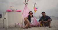 Inspirasi Pesta Ulang Tahun Bertema Pantai Ala Salma, Putri Atiqah-Rio