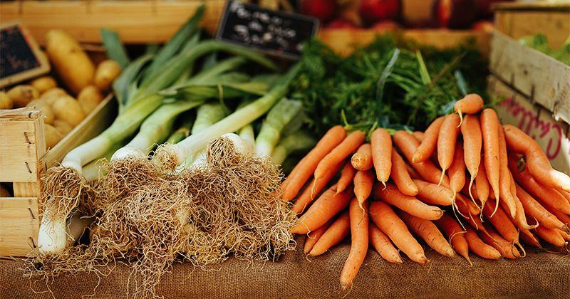 1. Sayuran mentah keras