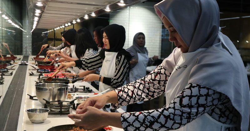 4. Para peserta mendapatkan kesempatan mencoba fasilitas dari Culinaria MODENA