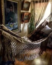 4. Boho style hammock