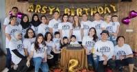 Arsya Hermansyah Ulang Tahun Ke-2, Ashanty Sekeluarga Tampil Kompak