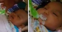 Bayi Baru Lahir Diikat Dipaksa Makan, Bikin Netizen Marah