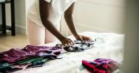 5. Lakukan teknik melipat menyimpan hijab tepat