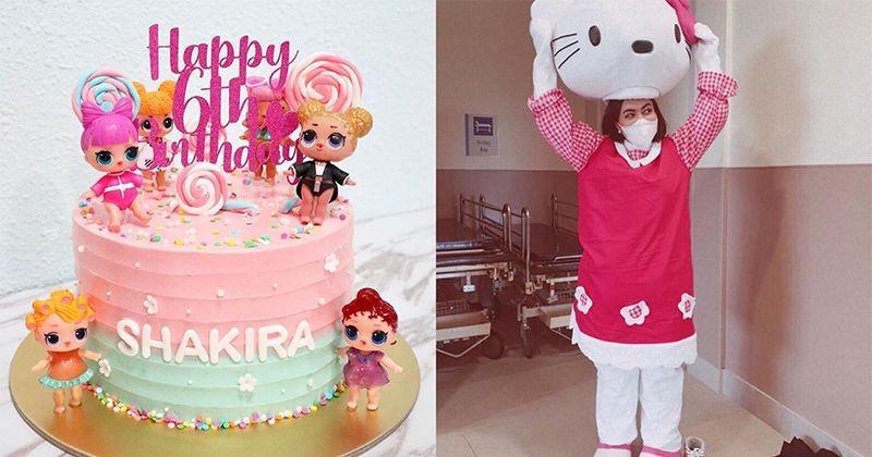 Super Tangguh Denada Rela Pakai Kostum Hello Kitty Untuk Shakira Popmama Com