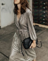 6. Silver low chest dress