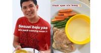 1. Menyiapkan makanan spesial Haykal Kamil