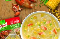 4. Sajikan semangkuk sup krim praktis
