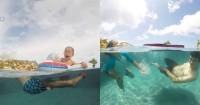 2. Juna Kai kompak diajak belajar berenang oleh kedua orangtuanya