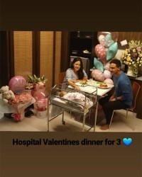3. Raisa Hamish Daud merayakan Valentine rumah sakit