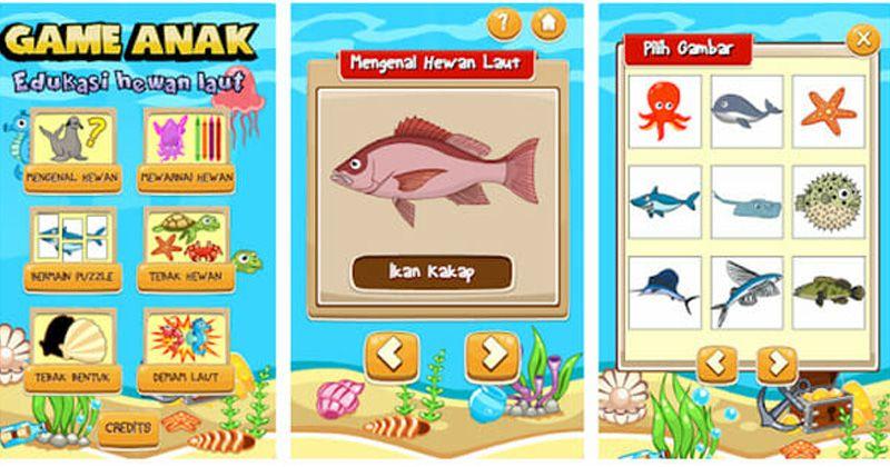 5. Game Anak Edukasi Hewan Laut