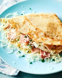 6. Ham and cheese crepes