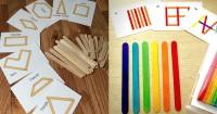 1. Mix and match popsicle stick