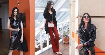 7 Gaya Paula Verhoeven dengan Outfit Serba Hitam