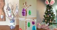 7 Inspirasi Pohon Telur Hiasan Rumah Hari Paskah 2019