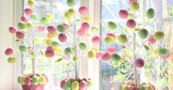 7 Inspirasi Pohon Telur Paskah Untuk Hiasan Di Rumah Popmama Com