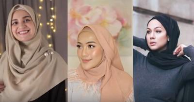 12 Tutorial Hijab Segi Empat yang Cocok untuk Lebaran