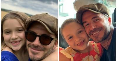 11 Potret Kedekatan Papa David Beckham Putri Harper