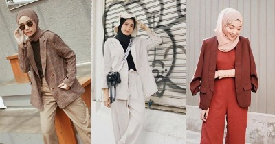 9 Padu Padan Blazer untuk Hijabers, Formal Namun Tetap Terlihat Kasual