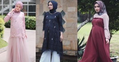 10 Baju Pesta Ibu Hamil Berhijab Mewah Hingga Kasual