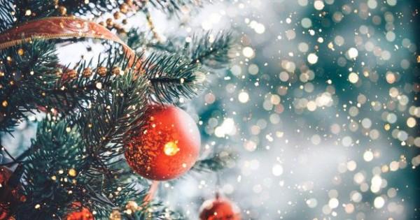 Latar Belakang Lampu Pohon Natal