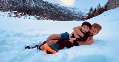 Seru Jelang Akhir Tahun, 3 Anak Artis Ini Eksplorasi Bermain Salju