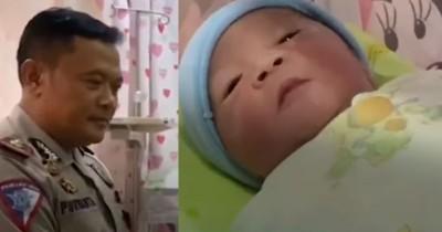 Ditolong Polisi Saat Melahirkan, Ibu Ini Beri Nama Unik Bayinya