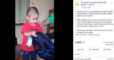 Bocah 2 Tahun Leukimia Positif Terinfeksi Virus Corona