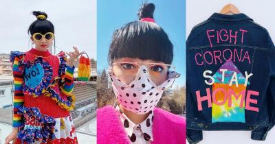 Resah dengan Virus Corona, Diana Rikasari Buat Masker Kain yang Unik
