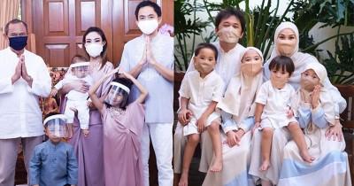 8 Potret Keluarga Artis Gunakan Masker saat Lebaran di Tengah Pandemi