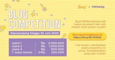 Blog Competition Yummy x Popmama 2020 Diperpanjang, Ikutan Yuk