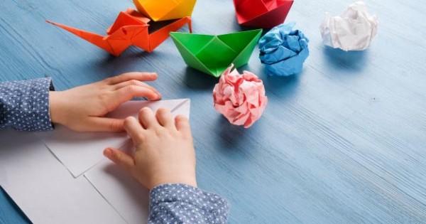 Cara Membuat Origami Bunga Lily Ganda in 2020 | Easy origami for ... | 315x600