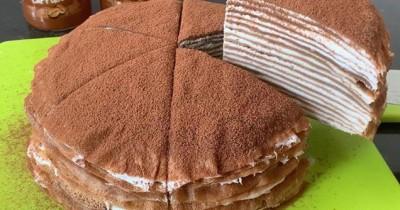 Coba Resep Dessert Kue Tiramisu Mille Crepes Kekinian Bareng Anak