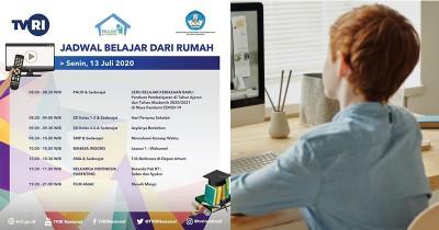 Jadwal Lengkap Program Belajar dari Rumah TVRI 13 Juli 2020